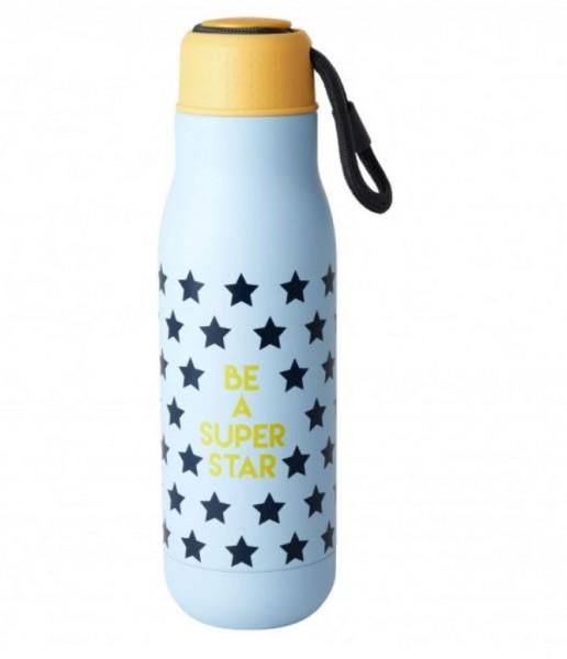 Coole Trinkflasche aus Edelstahl mit lässigem Design-Print.