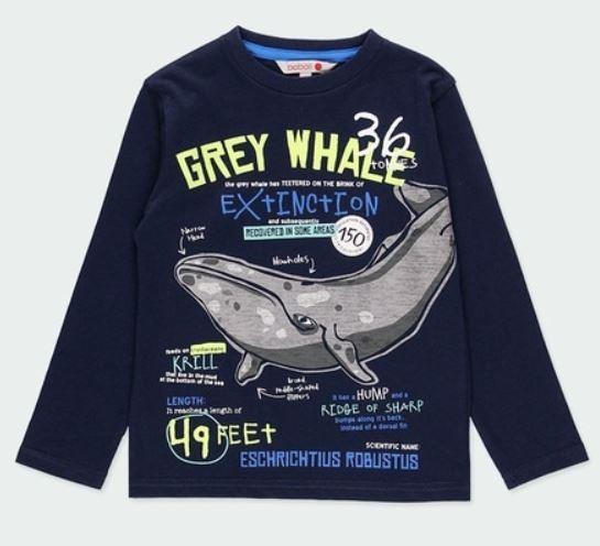 Langarm-Shirt GREY WHALE Bóboli piccolina
