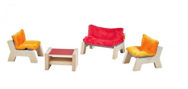 WOHNZIMMER - Puppenhaus-Möbel Little friends HABA piccolina Waldkindergarten