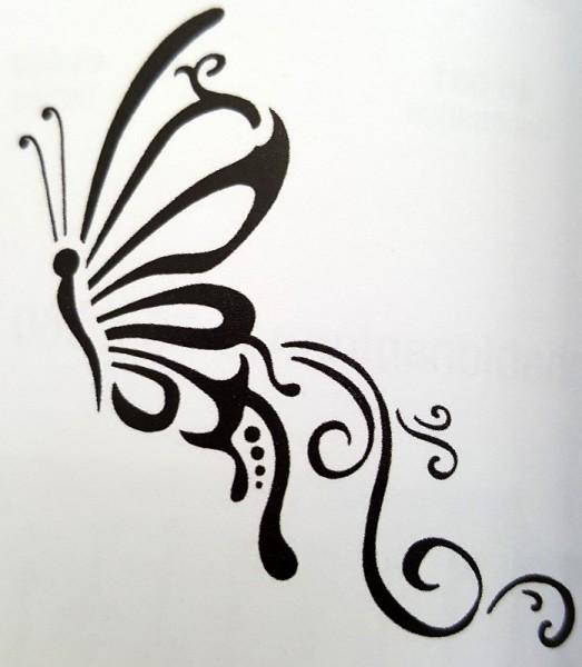 Schablone Schmetterling creartec artidee basteln schablonieren wandtechnik piccolina