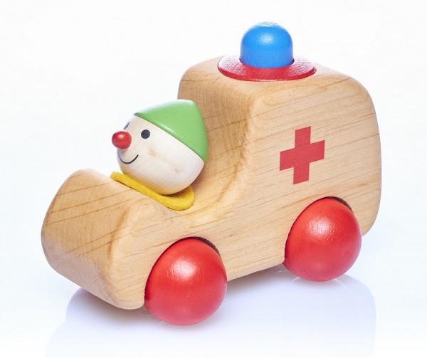 Holzauto SANIWICHT mit HUPE  piccolina  Waldkindergarten