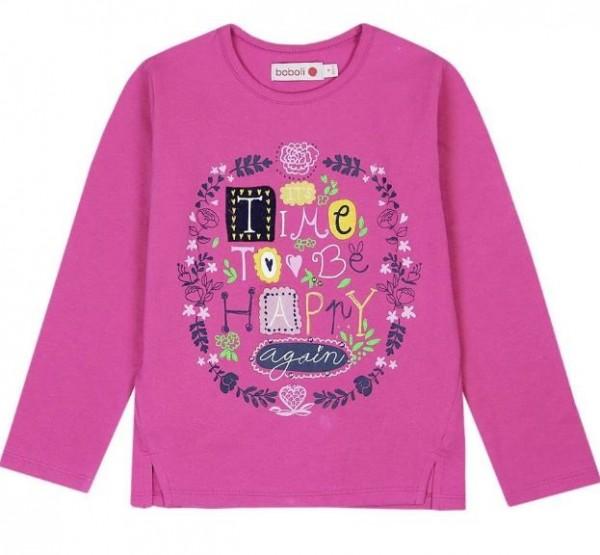 Langarm-Shirt boboli pink 436014 piccolina Waldkindergarten