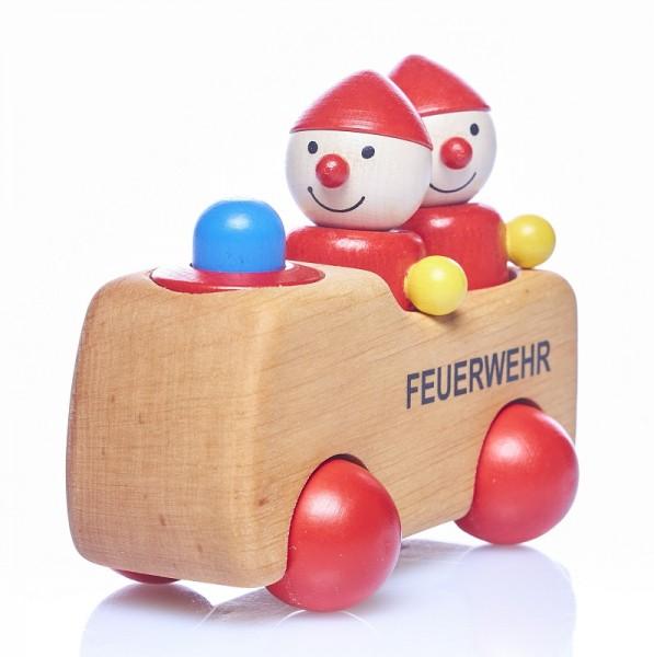 """Holzauto FEUERWEHRWICHT """"MANNE"""" mit HUPE  piccolina  Waldkindergarten"""