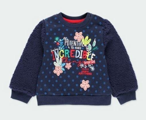 Sweat-Shirt plüsch BLUMEN BOBOLI piccolina Waldkindergarten