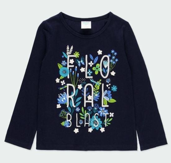Langarm-Shirt FLORAL Bóboli piccolina