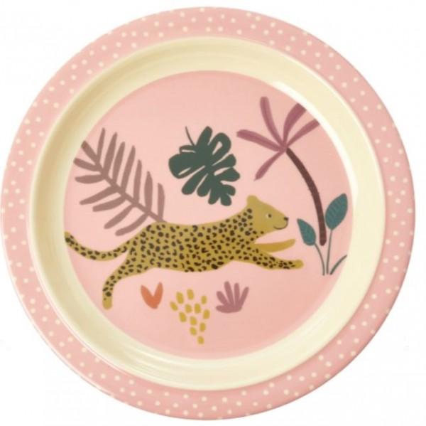 Melamin-Teller LEOPARD GIRL rice piccolina, Waldkindergarten