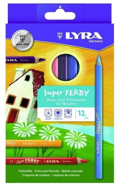 Buntstifte SUPER FERBY 12er-SET LYRA piccolina, Waldkindergarten
